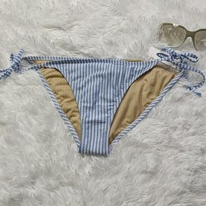 Old Navy Swim - Textured-Stripe String Side Tie Bikini Bottoms